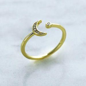 Ring Pinkrevolver Jewelry Gold filled Zirconias